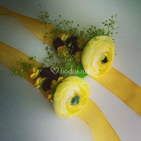 Flores preservadas pulseras