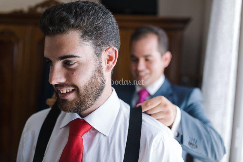 Preparando al novio
