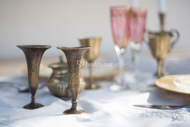 Decoración en mesa