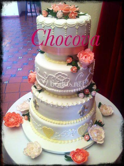 Tarta boda elegante
