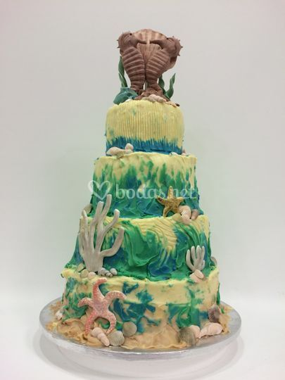Tarta Boda Chocolate y Mar