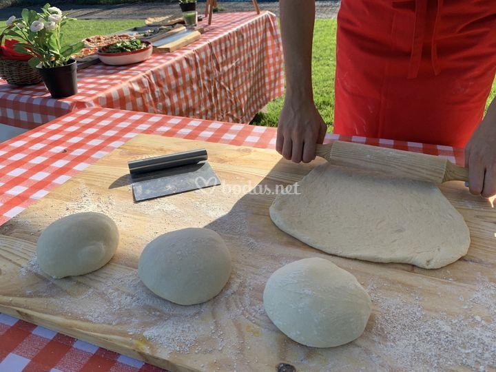 Pizzas preparadas in situ