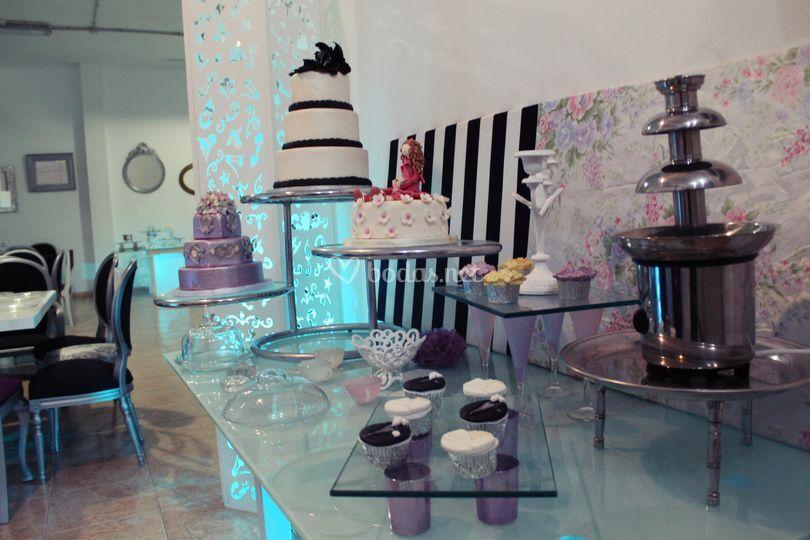 Mesa para tartas
