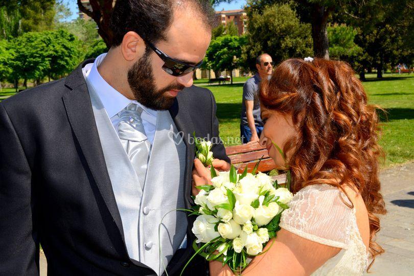 Fotografía llegada a la boda