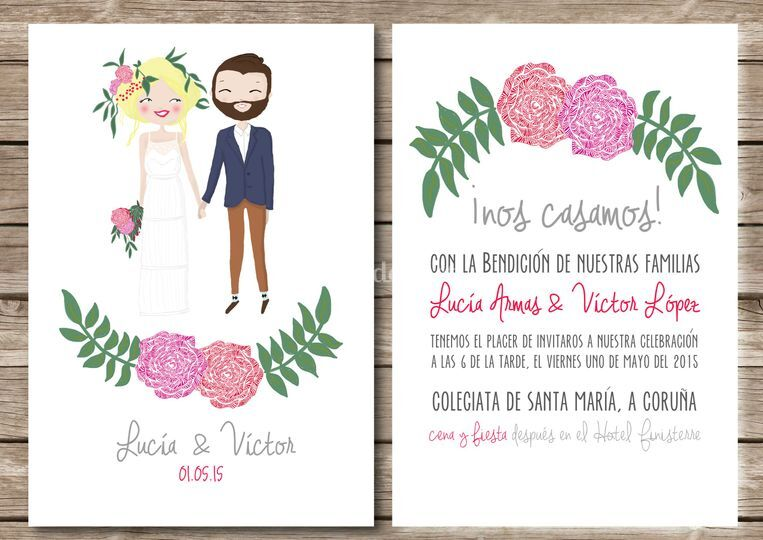 ejemplos de invitaciones de boda