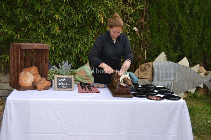 Buffet de jamón Ibérico