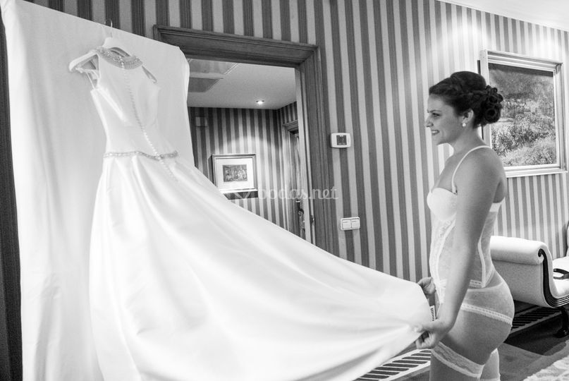 Traje de la novia esther