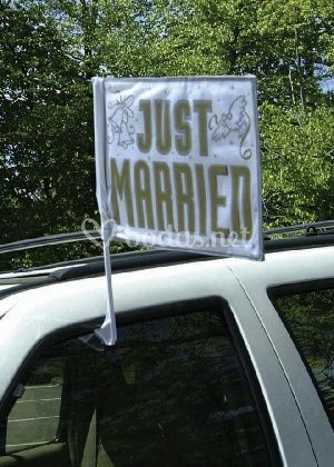 Bandera coche de boda
