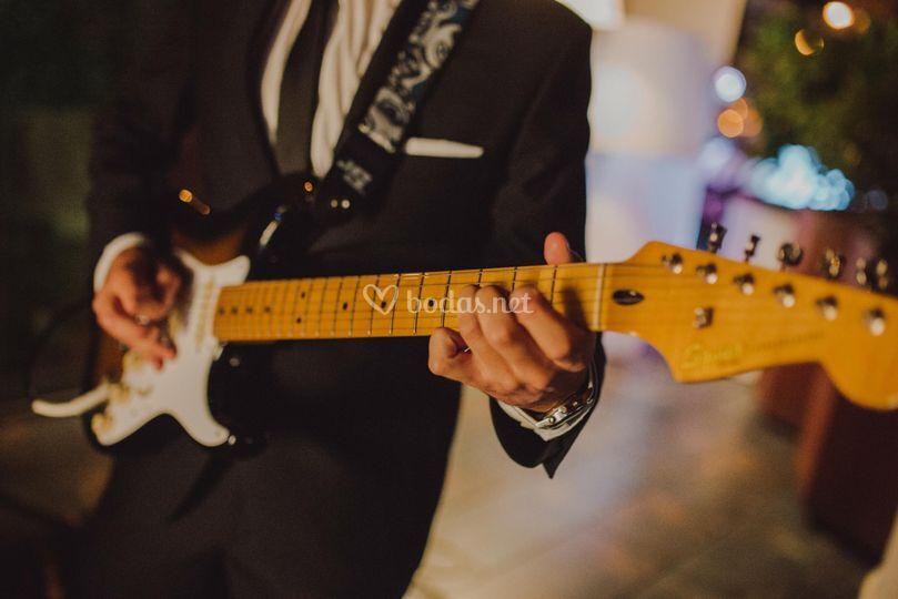 Detalle de la guitarra