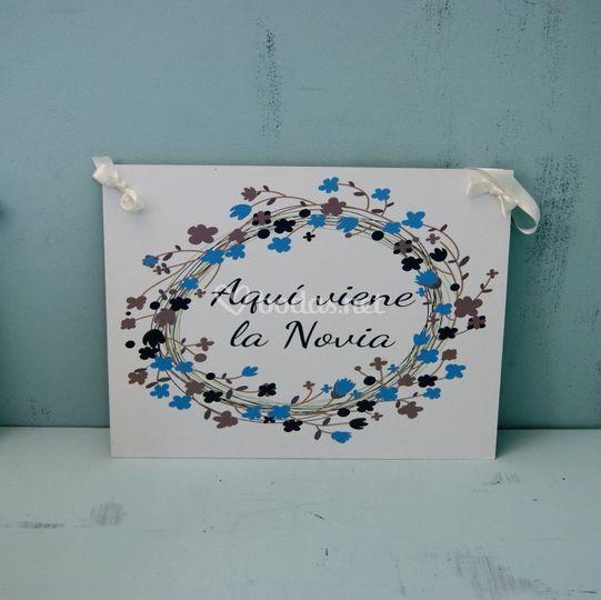 Cartel aqui viene la novia