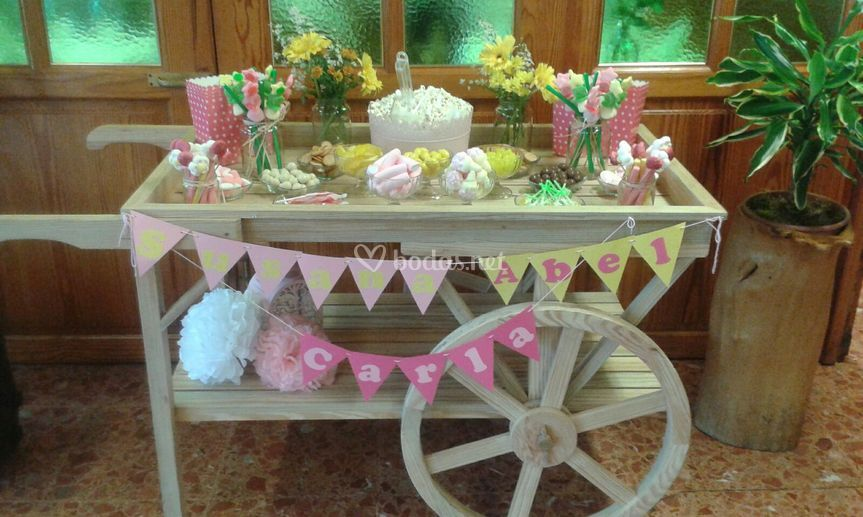 Candy Bar, carro de madera
