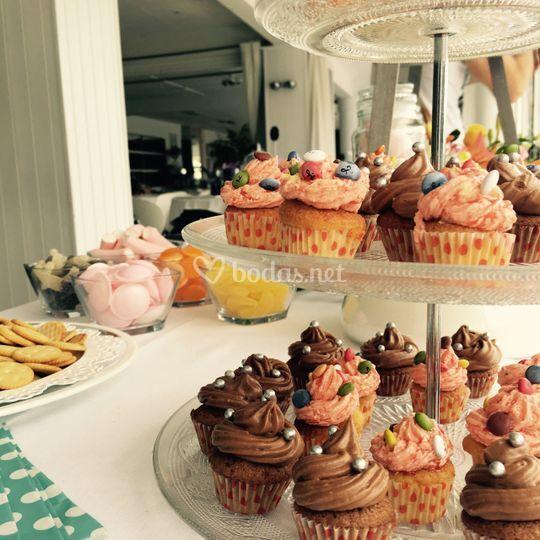 Candy bar - Cupcakes de La Casita de Caramelo