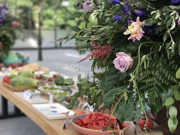 Mesa verduras La Huerta