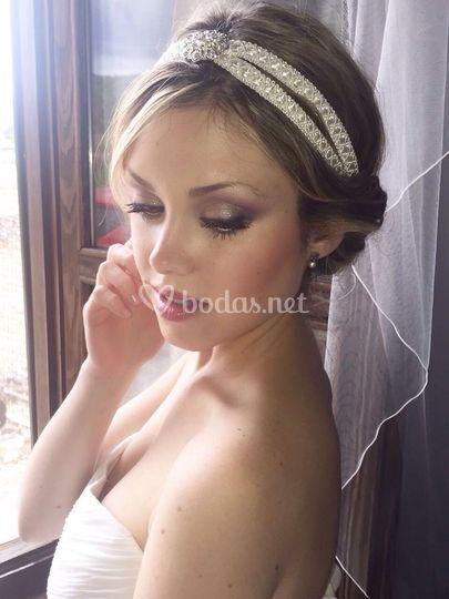 Tocado tiara de novia
