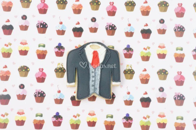 Galleta de chaqueta de novio