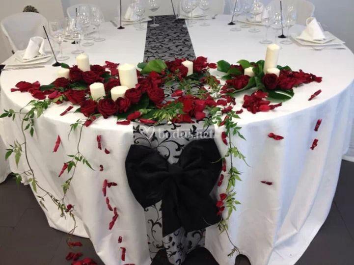 Mesa romántica