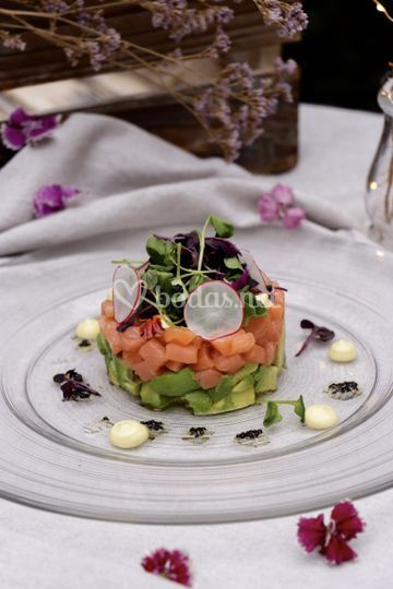 Timbal de salmón y aguacate