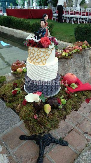 Tarta de boda medieval