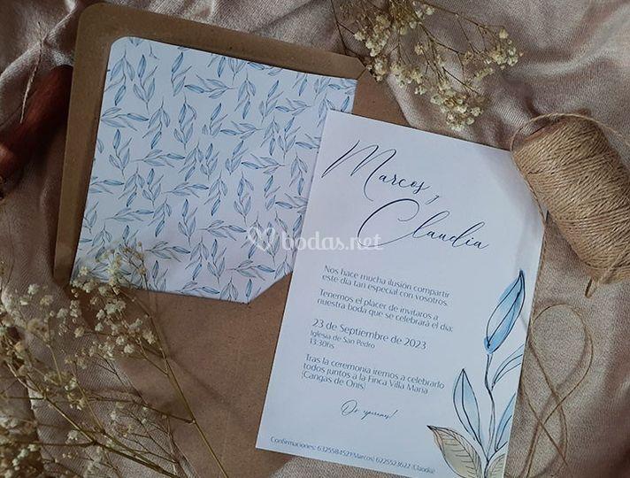 Invitación bleu