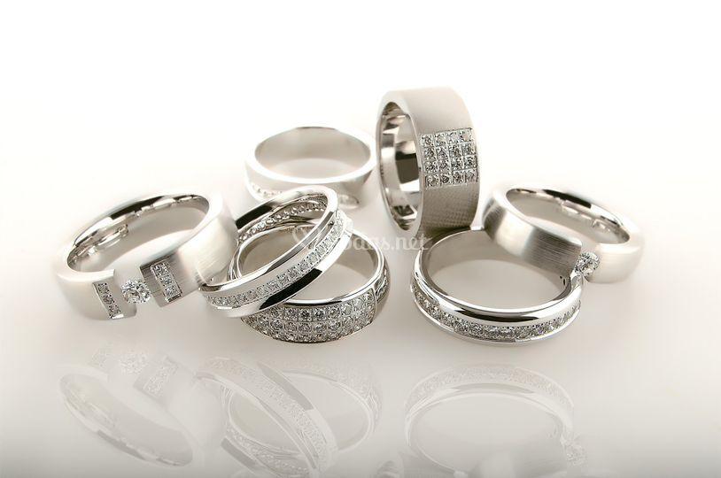 Anillos con Diamantes LK