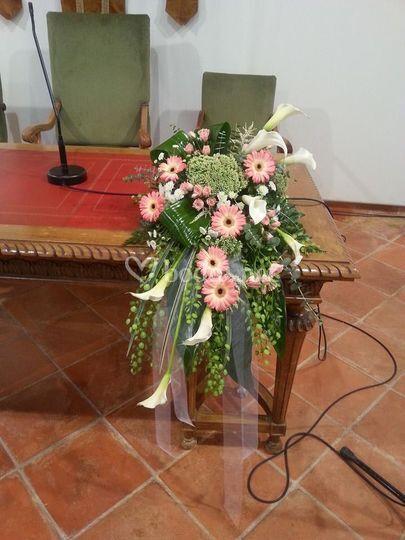 Centro mesa ceremonia civil