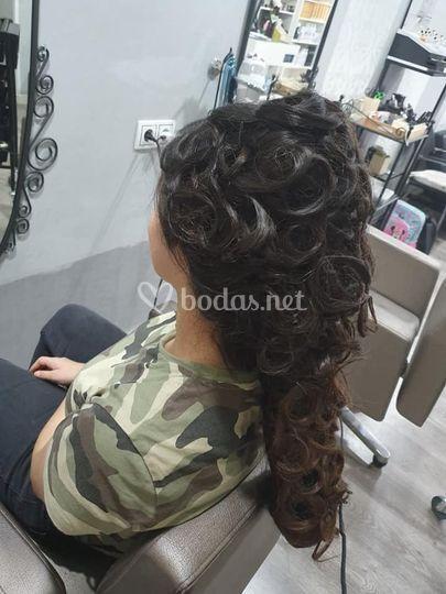Peinado espectacular