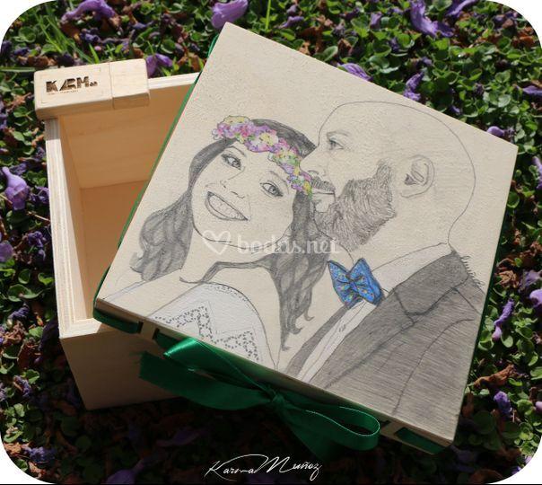 Caja madera Ramón+Isa