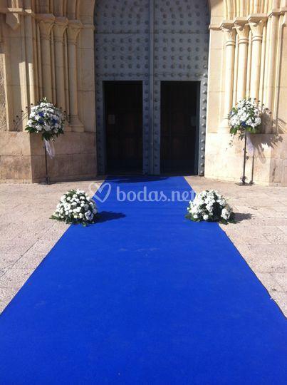 Centros con alfombra azul