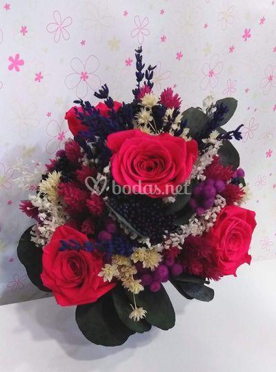 Bouquet de tonos vivos