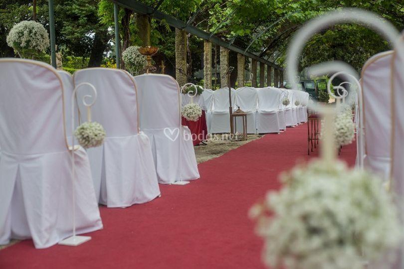 Detalles de la ceremonia civil