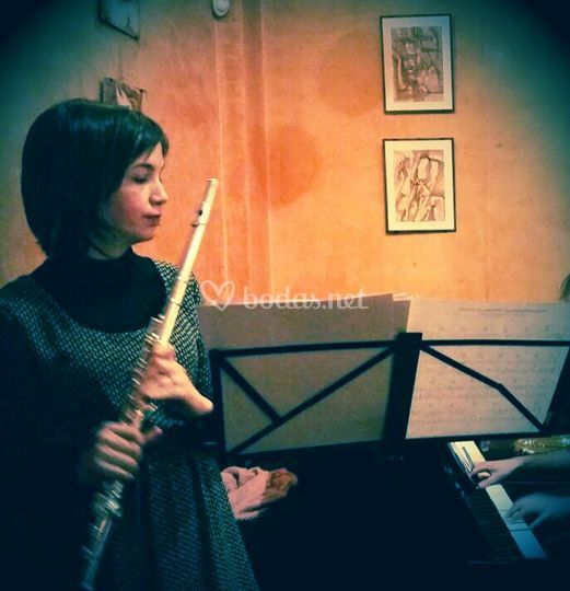 Esther con la flauta