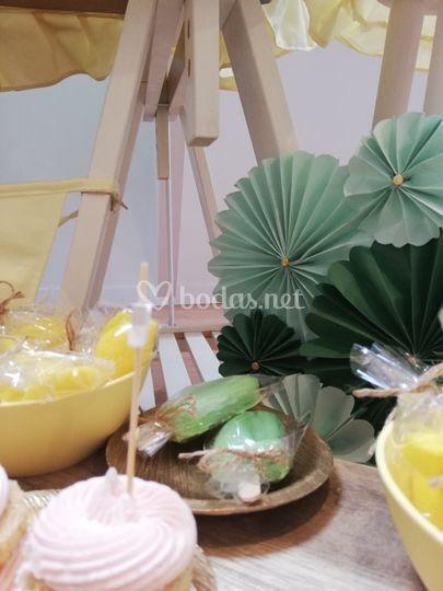 Detalles de la mesa dulce
