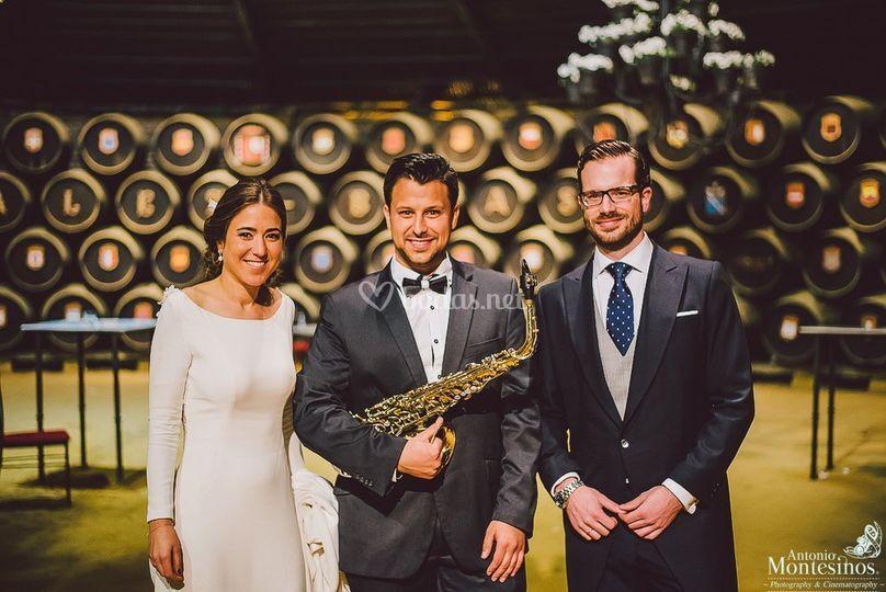 Bodasaxo saxofonista para boda