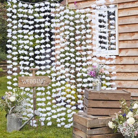 Fondo para tu photocall flores