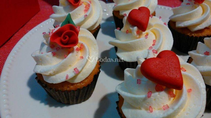 Mini cupcakes San Valentin