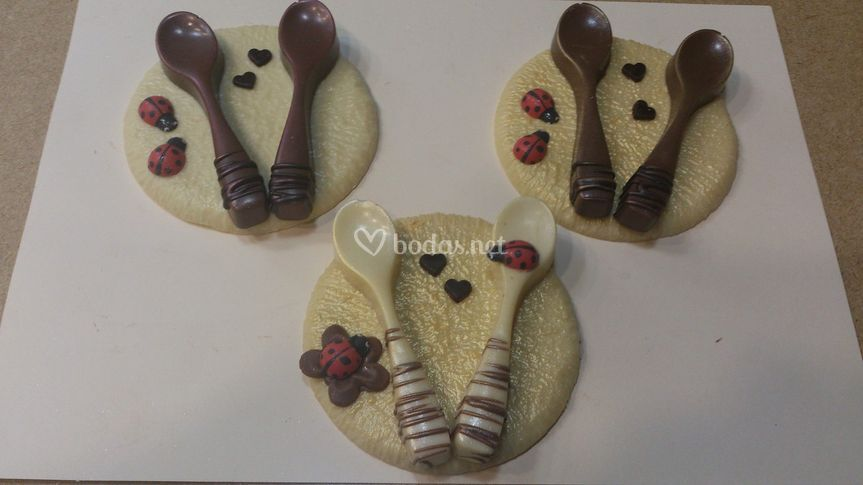 Cucharas de chocolate