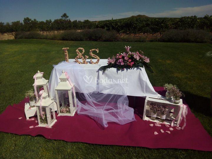 Ceremonia. Jardín exterior de Vivanco