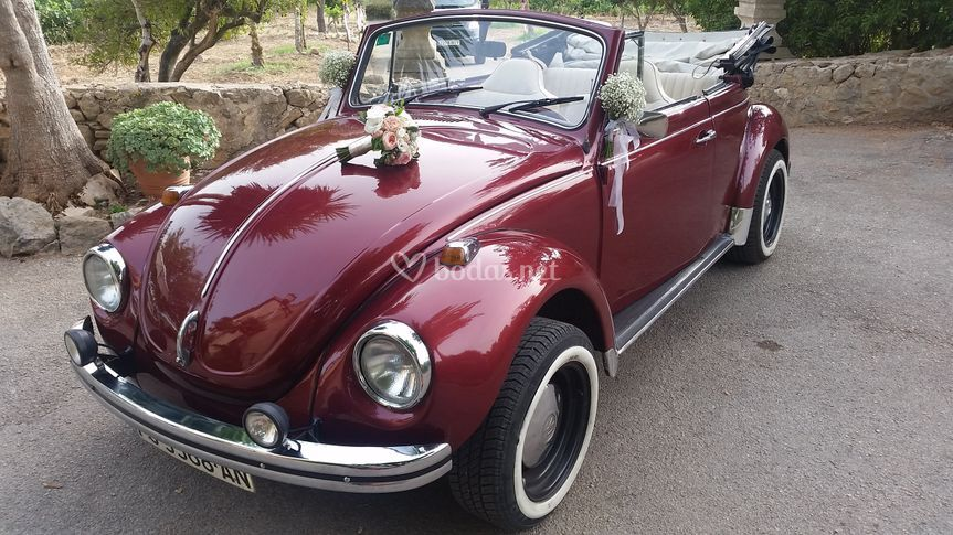 VW Beetle Cabrio Red