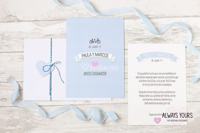 Invitación Baby Blue