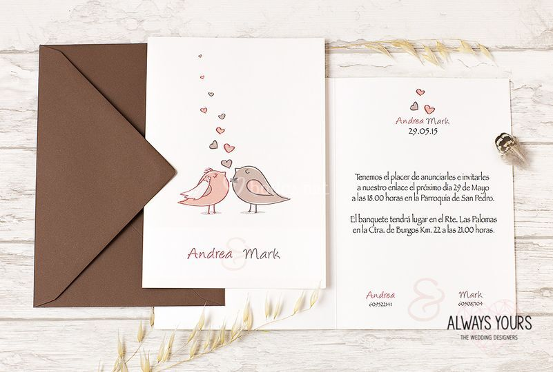 Invitación Birds