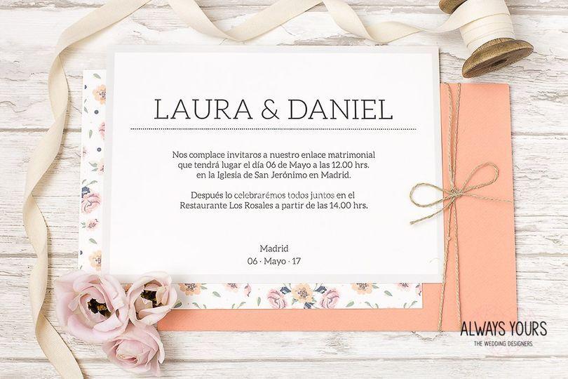 Invitación Classic roses