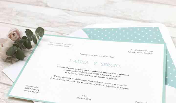 Invitación classic turquoise