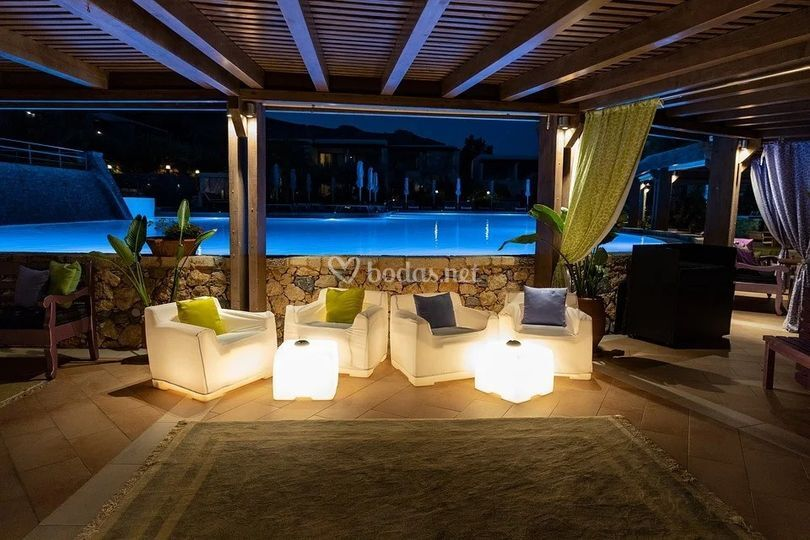 Zona chill out con led