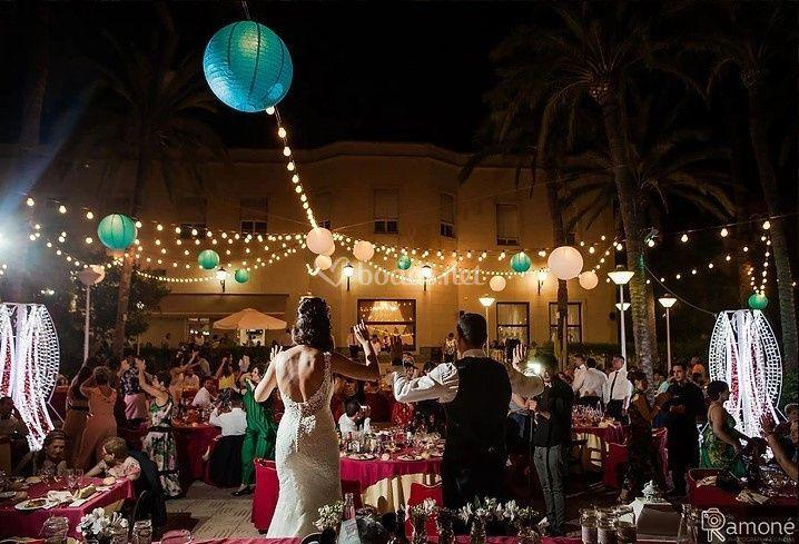 Iluminación en banquete
