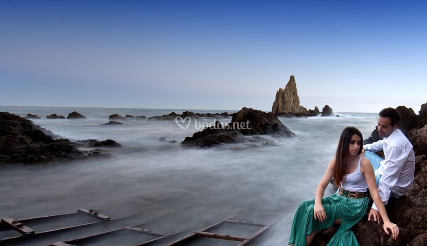Miriam y Pepe en Cabo de gata