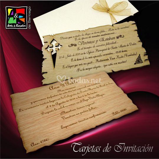 Tarjetas De Invitaci N De Arte Y Regalos De Santiago Fotos