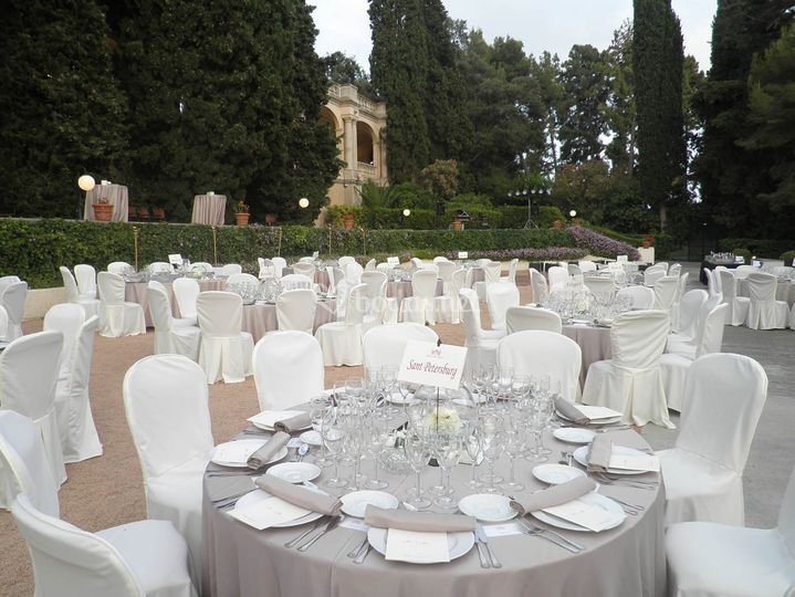 Banquete en Jardín Mónaco
