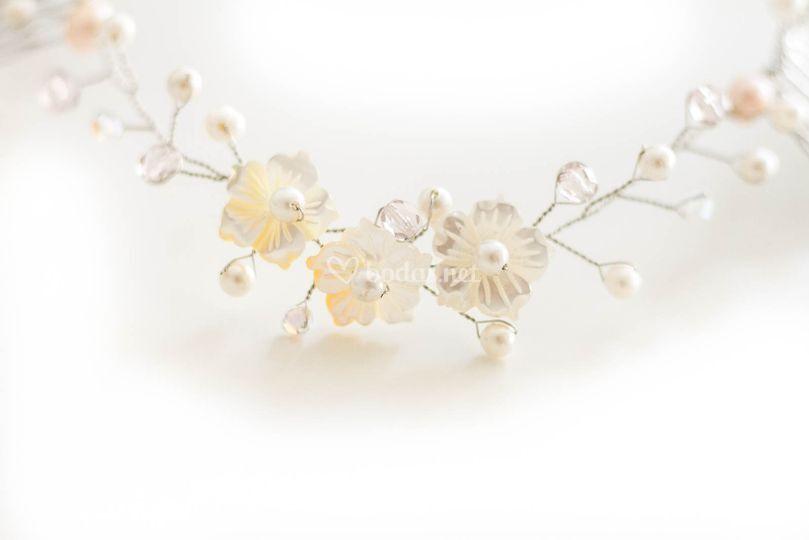 Flores de nácar y perlas 2