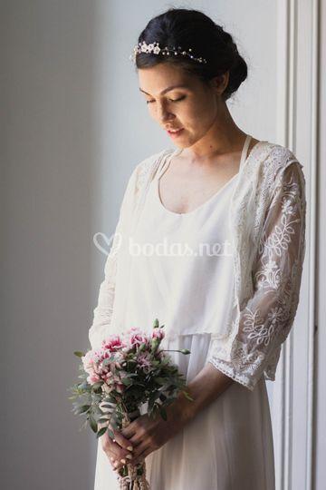 Flores de nácar y perlas 3