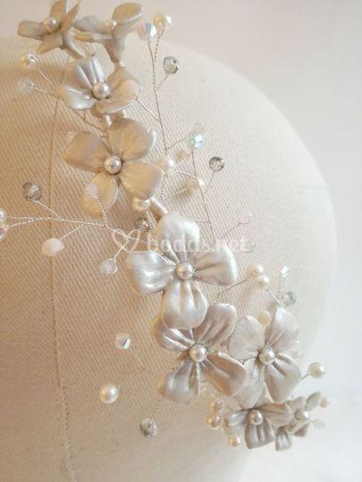 Flores nacaradas (detalle)